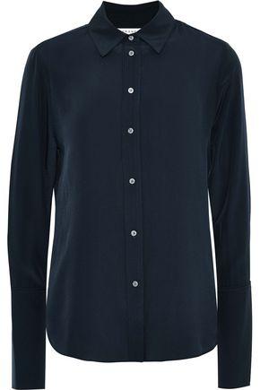 FRAME Washed-silk shirt