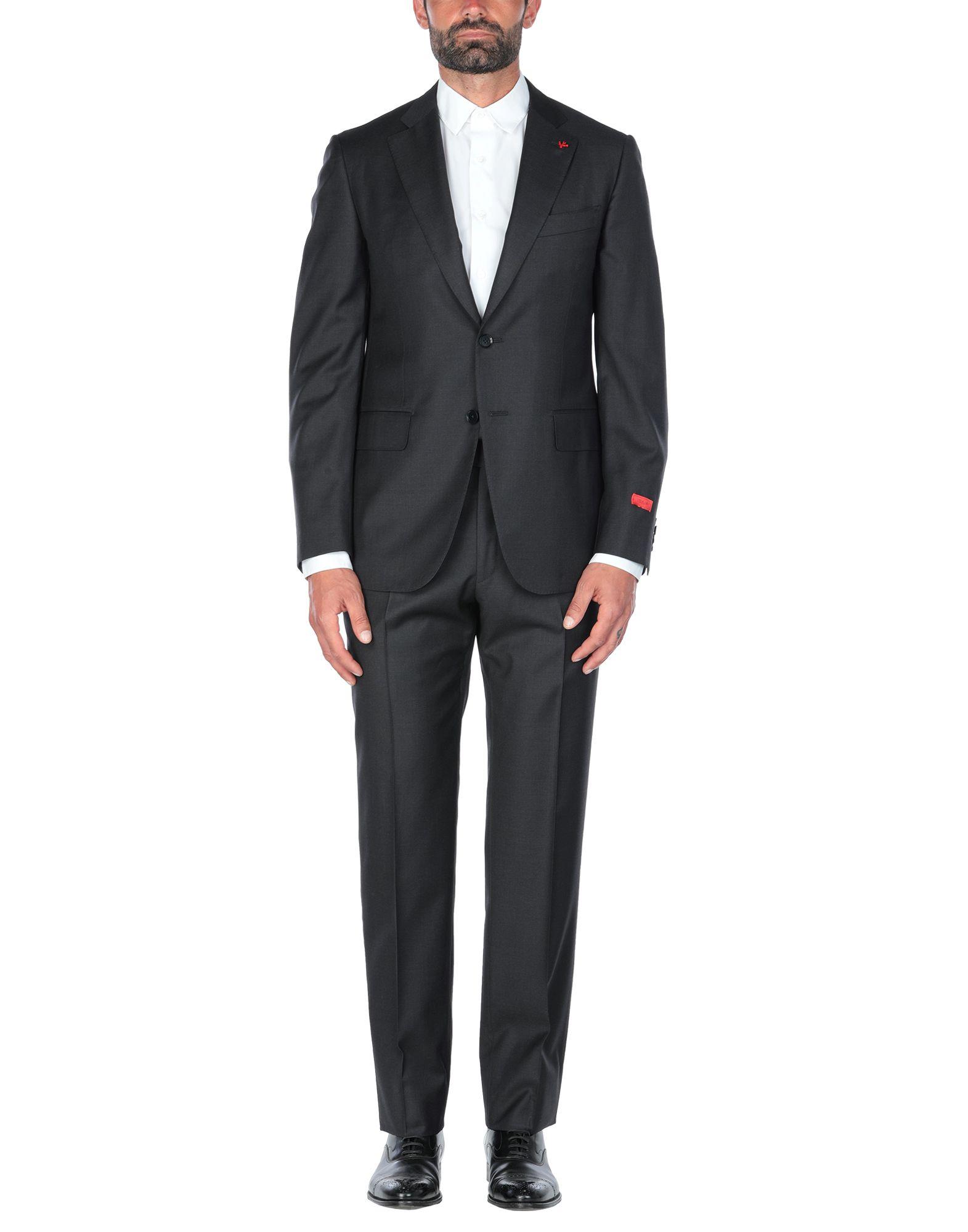 《セール開催中》ISAIA メンズ スーツ スチールグレー 56 ウール 100%