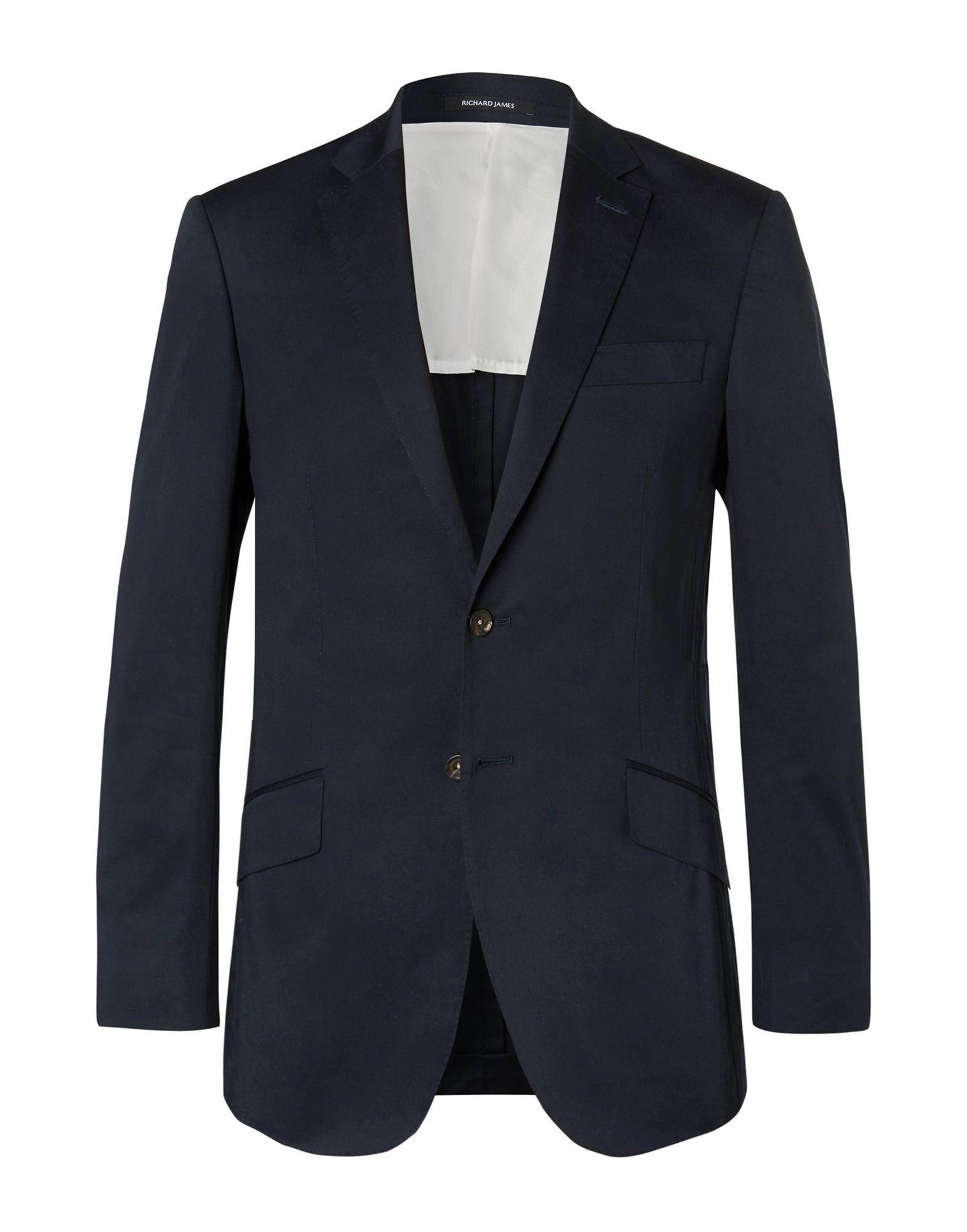 《セール開催中》RICHARD JAMES メンズ テーラードジャケット ダークブルー 40 コットン 97% / ポリウレタン 3%