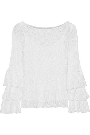 BAILEY 44 Sorority tiered lace blouse