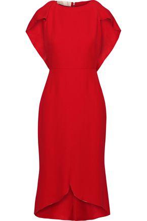 ANTONIO BERARDI Cape-back crepe dress