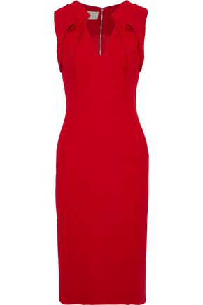 ANTONIO BERARDI Pleated stretch-crepe dress