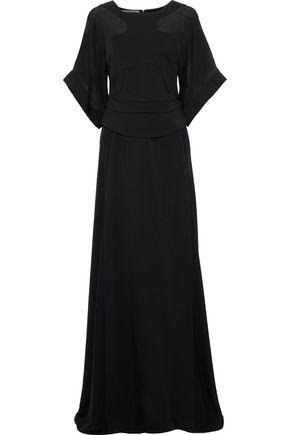 ANTONIO BERARDI Chiffon-paneled cady gown