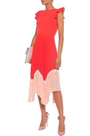 799bd950 MARKUS LUPFER Cloe color-block pleated crepe midi dress