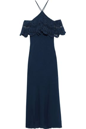 BAILEY 44 Pudina cold-shoulder crochet-paneled cotton-gauze maxi dress