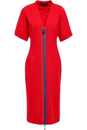 CUSHNIE Grosgrain-trimmed cady dress