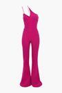 CUSHNIE One-shoulder cutout crepe jumpsuit