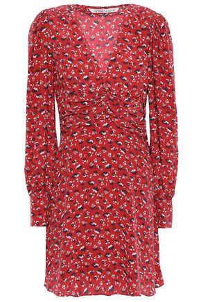 VERONICA BEARD Floral-print washed-silk mini dress