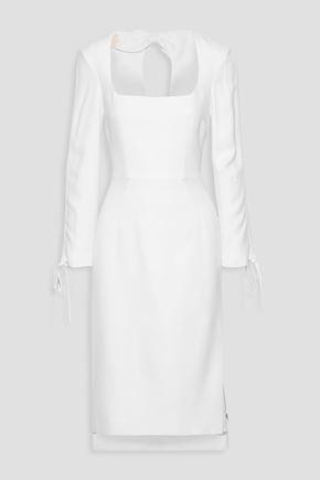 ANTONIO BERARDI Cutout bow-embellished cady dress