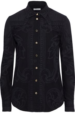 VERSACE COLLECTION Printed cotton shirt