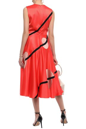 ROKSANDA Printed silk crepe de chine midi dress