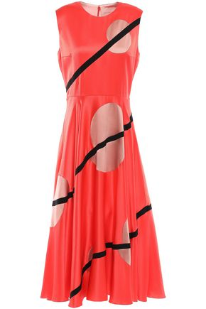 ROKSANDA Printed silk crepe de chine midi dress