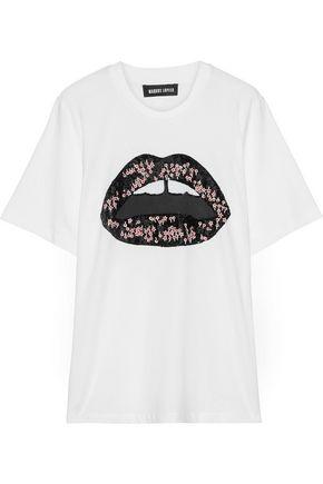 MARKUS LUPFER Alex embellished printed cotton-jersey T-shirt