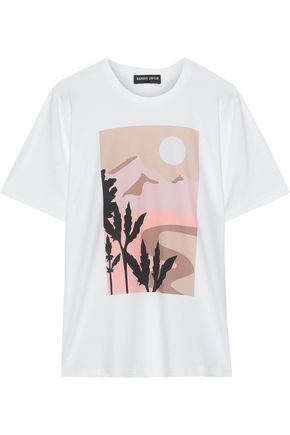 MARKUS LUPFER Printed stretch-cotton jersey T-shirt