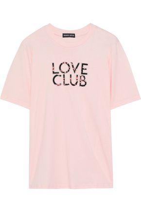 MARKUS LUPFER Alex appliquéd cotton-jersey T-shirt
