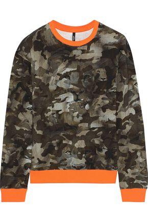 VERSUS VERSACE Printed cotton-blend fleece sweatshirt