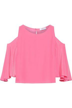 BAILEY 44 Cold-shoulder silk top