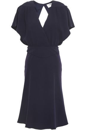 BA&SH Open-back fluted crepe dress