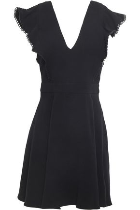 BA&SH Oskia ruffle-trimmed crepe mini dress