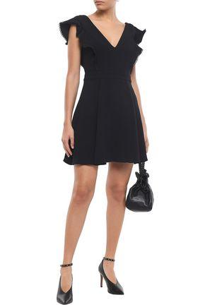 BA&SH Oskia ruffle-trimmed crepe mini dress