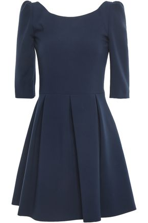 BA&SH Pleated crepe mini dress