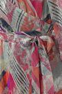BA&SH Metallic printed stretch-knit maxi wrap dress