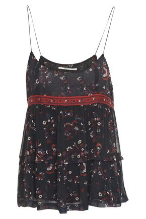 BA&SH Layered printed gauze camisole