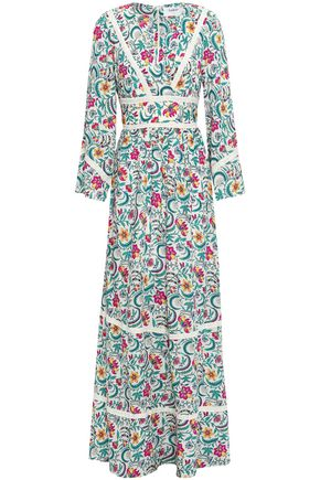 BA&SH Heren floral-print voile maxi dress