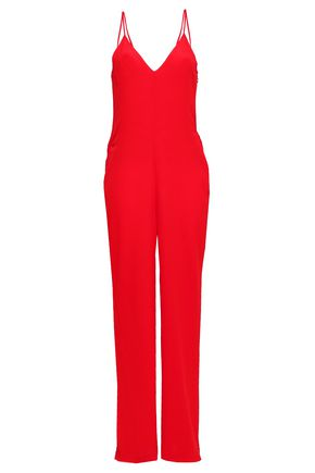BA&SH Cutout crepe jumpsuit