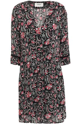 BA&SH Haley floral-print voile mini dress
