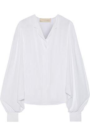 ANTONIO BERARDI Gathered crepe de chine blouse