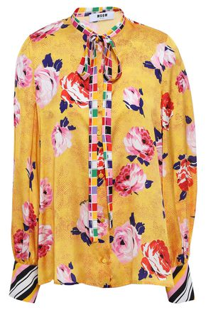 MSGM Printed twill blouse