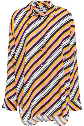 MSGM Striped crepe de chine shirt
