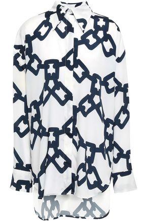 MSGM Printed crepe de chine shirt