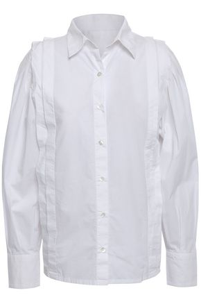 BA&SH Vayla pleated cotton-poplin shirt