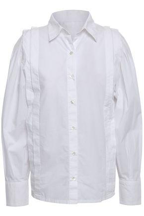 BA&SH Vayla pleated cotton-poplin shirt