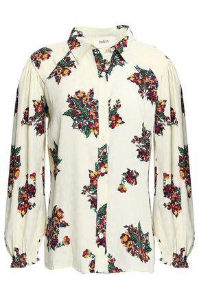 BA&SH Feliz floral-print jacquard shirt
