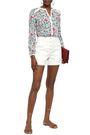 BA&SH Hopeful gathered floral-print voile blouse