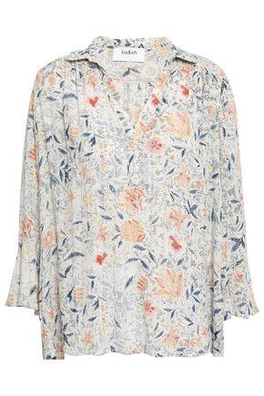 BA&SH Isylde floral-print metallic gauze blouse