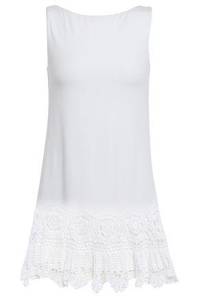BAILEY 44 Crochet-trimmed jersey mini dress