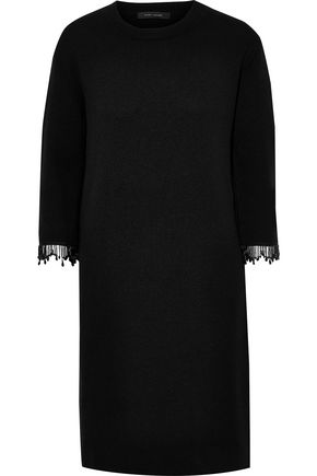 MARC JACOBS Bead-embellished wool and cashmere-blend mini dress