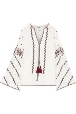 TALITHA Sana embroidered cotton top