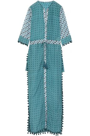 TALITHA Ira embellished cotton and silk-blend coverup