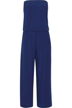 TART COLLECTIONS Strapless gathered stretch modal-jersey jumpsuit