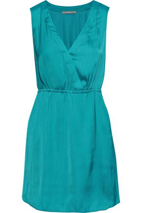 TART COLLECTIONS Annalisa wrap-effect washed crepe de chine mini dress