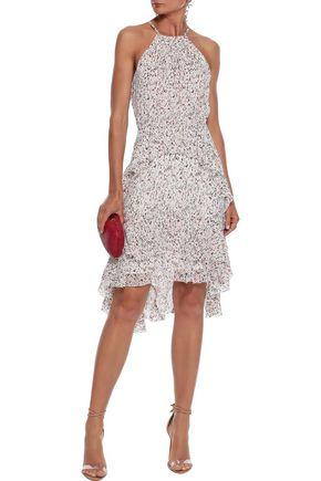 JOIE Lamberta tiered printed silk-chiffon dress