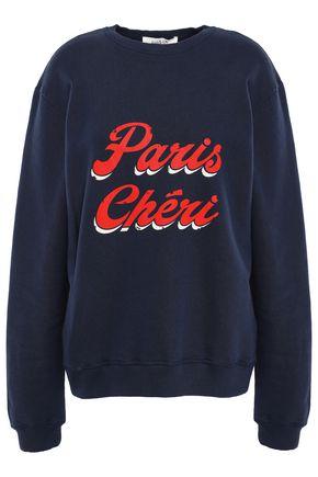 BA&SH Cheri printed French cotton-terry sweatshirt