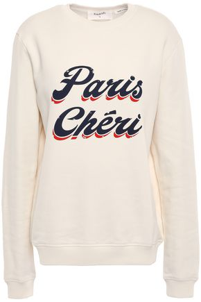 BA&SH Cheri printed French cotton-terry sweatshirt