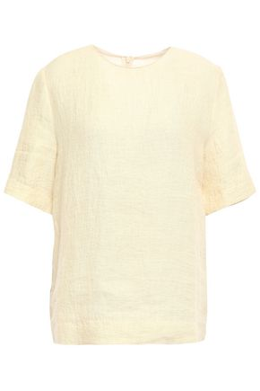 MARNI Linen and cotton-blend top