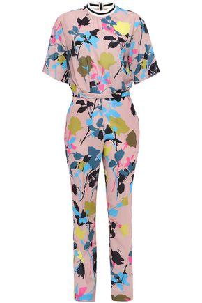MSGM Printed crepe de chine jumpsuit